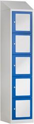 Premium Locker Met Acrylglas 5 Deuren 40 CM Breed - Verkrijgbaar In Verschillende Kleuren