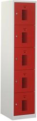 Premium Locker 1 Kolom 5 Deuren 40 CM Breed - Verkrijgbaar In Verschillende Kleuren