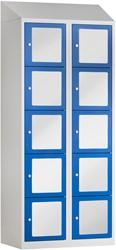 Premium Locker Met Acrylglas 10 Deuren 80 CM Breed - Verkrijgbaar In Verschillende Kleuren