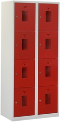 Premium Locker 2 Kolommen 8 Deuren 80 CM Breed - Verkrijgbaar In Verschillende Kleuren