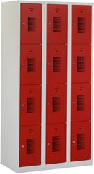 Premium Locker 3 Kolommen 12 Deuren 90 CM Breed - Verkrijgbaar In Verschillende Kleuren