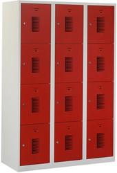 Premium Locker 3 Kolommen 12 Deuren 120 CM Breed - Verkrijgbaar In Verschillende Kleuren