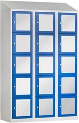 Premium Locker Met Acrylglas 15 Deuren 120 CM Breed - Verkrijgbaar In Verschillende Kleuren