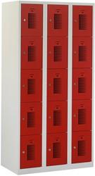Premium Locker 3 Kolommen 15 Deuren 90 CM Breed - Verkrijgbaar In Verschillende Kleuren