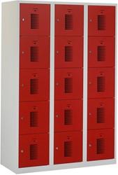 Premium Locker 3 Kolommen 15 Deuren 120 CM Breed - Verkrijgbaar In Verschillende Kleuren