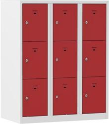 Premium Locker 3 Kolommen 9 Deuren 90 CM Breed - Verkrijgbaar In Verschillende Kleuren