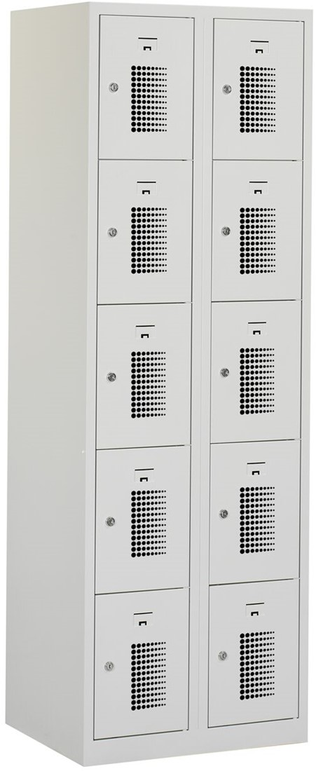 Premium Locker 2 Kolommen 10 Deuren 60 Cm Breed Verkrijgbaar In Verschillende Kleuren