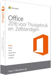 Microsoft Office 2016 voor Thuisgebruik & Zelfstandigen 1 PC (NL)