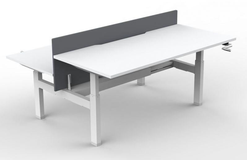 Slinger verstelbaar zitsta bureau frame move duo zwart bij