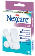 PLEISTER NEXCARE SENSITIVE SOFT 20 STUKS ASSORTI