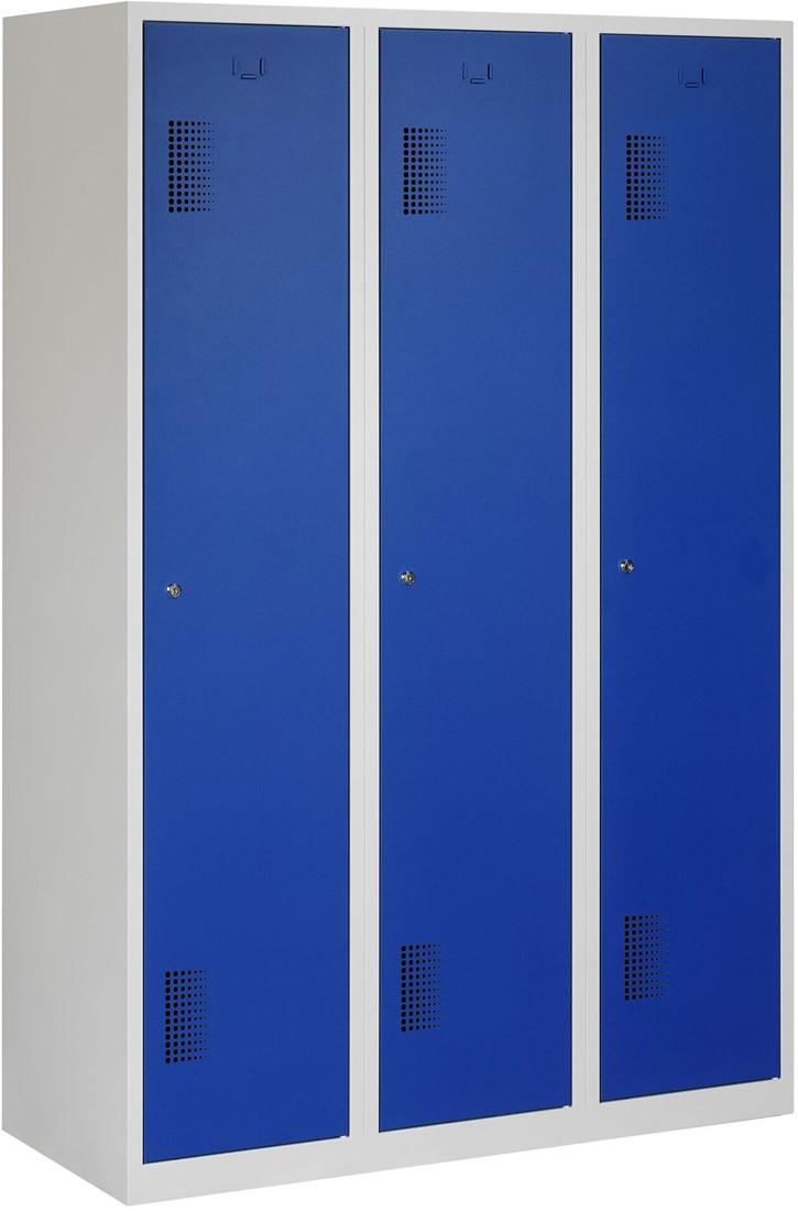 Garderobekast 120 Cm Breed.Premium Garderobekast 3 Deuren 120 Cm Breed Grijs Glad Cilinderslot Verkrijgbaar In Verschillende Kleuren