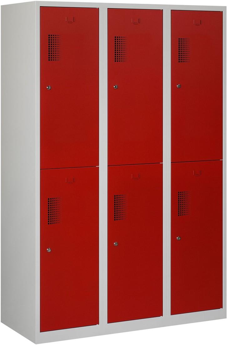 Garderobekast 120 Cm Breed.Premium Garderobekast 6 Deuren 120 Cm Breed Grijs Blauw Sleuf Cilinderslot Verkrijgbaar In Verschillende Kleuren