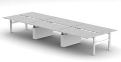 Elektrisch Verstelbaar Zitsta Bench Bureau 4 of 6 personen Presto R