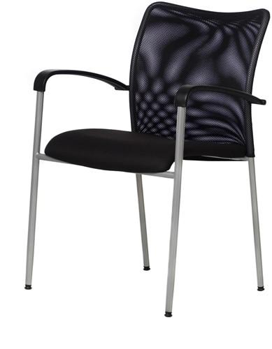 Stoel Sit-lux met netbespanning rug en verchroomd frame