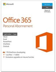 Microsoft Office 365 Personal 1 jaar abonnement