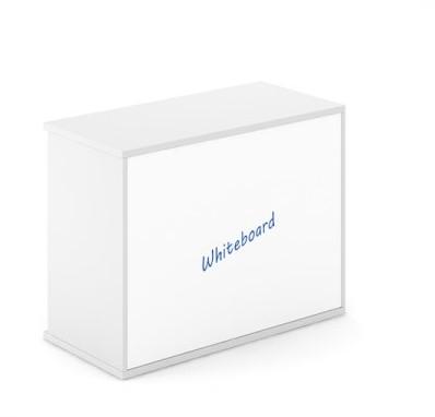 Whiteboard Achterwand Kast Uni Plus 100 Cm Breed 754 Cm Hoog Met Openslaande Deuren